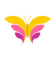 Butterfly simple logo vector image vector image