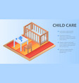 child care concept background isometric style vector image