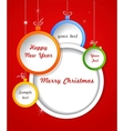 Christmas background with balls decorations vector image vector image