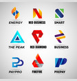 colorful logo set collection template sign symbol vector image vector image