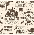 cowboy club seamless pattern background vector image