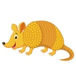 Cute armadillo cartoon vector image