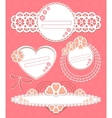 cute frames collection vector image vector image