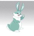 cute rabbit cartoon waving hand vector image vector image