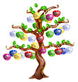 decorative tree with apples made precious vector image