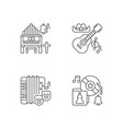 different cultures music pixel perfect linear vector image