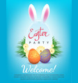 easter party invitation vector image vector image