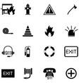 emergency icon set vector image vector image