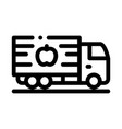 fruit delivering cargo icon outline vector image vector image