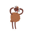 funny sheep character standing on two legs vector image vector image