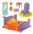 Furniture Set For Fairy Bedroom vector image vector image