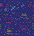 geometric seamless pattern school patterns vector image