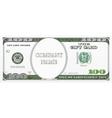 Gift card design as hundred dollars bill vector image