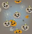 halloween pumpkin jack o lantern vector image