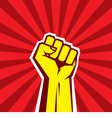 Hand Up Proletarian Revolution vector image