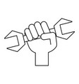 hand with tool vector image vector image