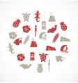 Hawaii icons vector image vector image