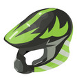 helmet motorcycle icon isometric 3d style vector image vector image