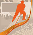hockey player silhouette vector image