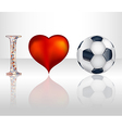 I love football vector image vector image