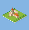 isometric element of urban vector image