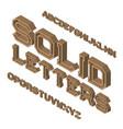 isometric font isolated english 3d alphabet vector image