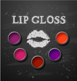 Lipstick lip gloss decorative cosmetics make up vector image vector image