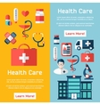 medical brochure with flat elements vector image