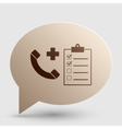 Medical consultration sign Brown gradient icon on vector image vector image