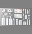 medical container spray pills drugs vector image vector image