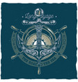 nautical t-shirt with of anchor vector image vector image