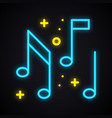 neon music note sign glowing karaoke music symbol vector image