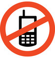prohibited mobile vector image vector image