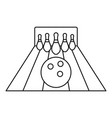 ready for bowling strike icon outline style vector image