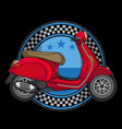 scooter motorcycle logo vector image vector image