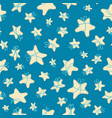 seamless pattern of night stars vector image vector image