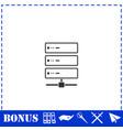 server icon flat vector image vector image