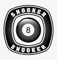 snooker design vector image vector image
