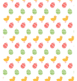 Spring easter egg and chicken seamless pattern vector image vector image