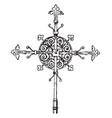 steeple cross vintage vector image vector image