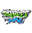street art graffiti lettering vector image vector image