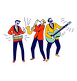 street musicians characters or jazz band perform vector image vector image