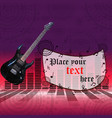 the poster with an electric guitar vector image vector image