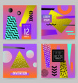 trendy abstract posters set with place for text vector image vector image