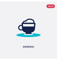 two color espresso icon from drinks concept vector image vector image