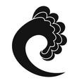 wave ocean icon simple black style vector image vector image