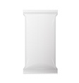 White wet wipes package with flap isolated on vector image vector image