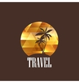 with diamond tropical island vector image