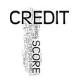 your credit score it is important you understand vector image vector image