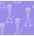 Funny Seamless pattern with giraffe Baby giraffe vector image